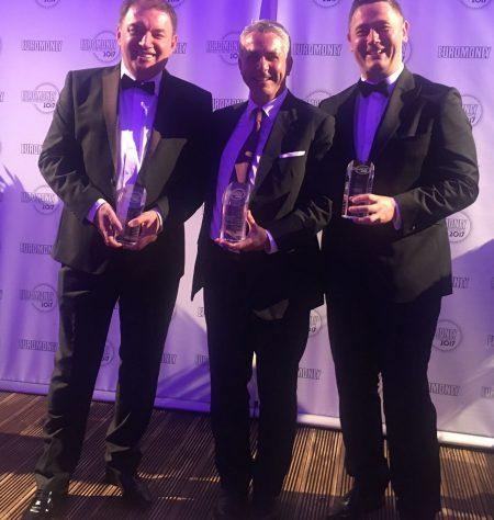 Aleska Lukic (CEO, Erste Bank Montenegro), Peter Bosek (Chief Retail Officer, Erste Group), and Sergiu Manea (CEO, BCR)